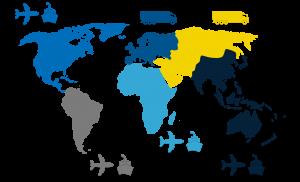 Mapa zadsięgu działania transportu Inter Logistic Polska